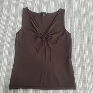 Banana Republic Dark Brown Womens Sleevless Top